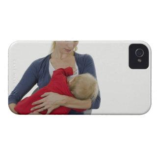Mother breastfeeding her baby. iPhone 4 case