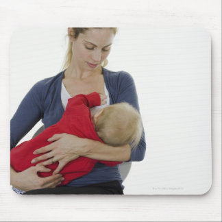 Mother breastfeeding her baby. mouse pad