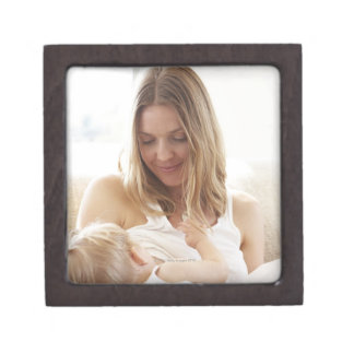 Mother breastfeeding her child jewelry box