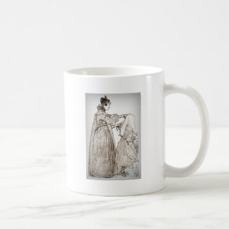 Mother Brushes Her Daughter's Hair Coffee Mug