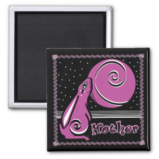 Mother Bunneh 2 Inch Square Magnet