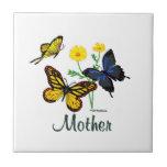 Mother Butterflies Tile