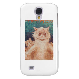 Mother Cat and Five Kittens Artwork by Louis Wain Samsung Galaxy S4 Cover