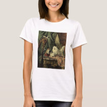 Mother cat and kittens antique painting T-Shirt
