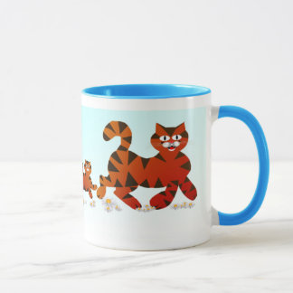 Mother Cat and Kittens Mug