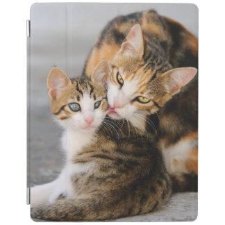 Mother Cat Loves Cute Kitten Gadget-Case iPad Cover