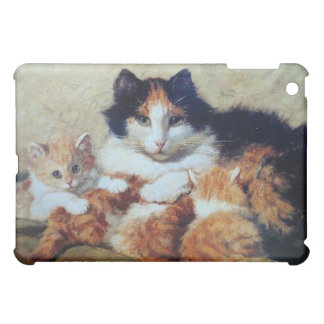 Mother Cat with her Kittens iPad Mini Cover