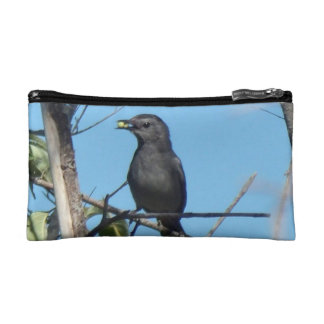 Mother Catbird Gathers Berries to her Feed Babies Makeup Bag
