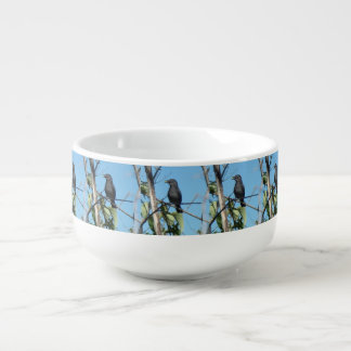 Mother Catbird Gathers Berries to her Feed Babies Soup Mug