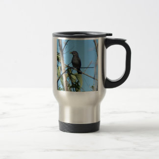 Mother Catbird Gathers Berries to her Feed Babies Travel Mug