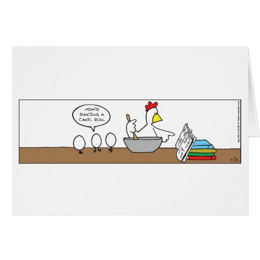 Mother Chicken Cooking Greeting Card