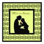 "Mother Child Adoption Baby Shower Invitations 5.25"" Square Invitation Card"