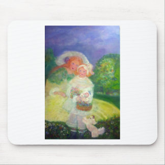 Mother & Child in the Park Designer Art Mouse Pad