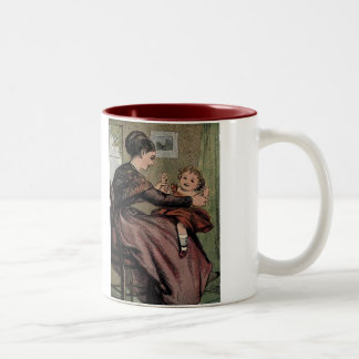 Mother & Child Mother and Daughter Two-Tone Coffee Mug
