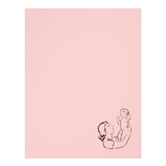 Mother & Child Outline Recycled Letterhead Paper