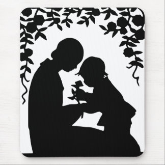 Mother & Child Silhouette Mouse Pad