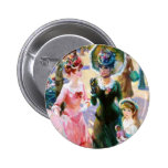 Mother & Child Street Scene Mother's Day Card Pinback Buttons
