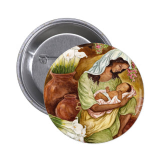 MOTHER & CHILD WITH CALA LILIES - MULTI PIN