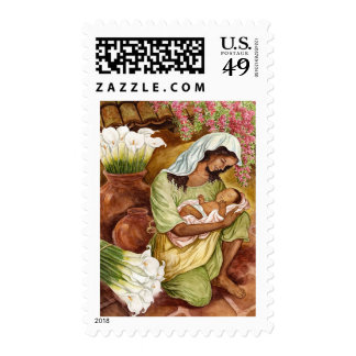 MOTHER & CHILD WITH CALA LILIES - MULTI STAMPS
