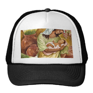 MOTHER & CHILD WITH CALA LILIES - MULTI TRUCKER HAT