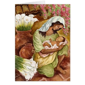 MOTHER & CHILD WITH CALLAS 1.8MB STATIONERY NOTE CARD