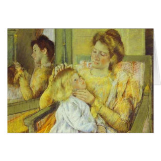 Mother Combing Her Child's Hair. 1901, Mary Cassat Greeting Card
