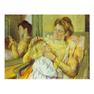 Mother Combing Her Child's Hair. 1901, Mary Cassat Postcard