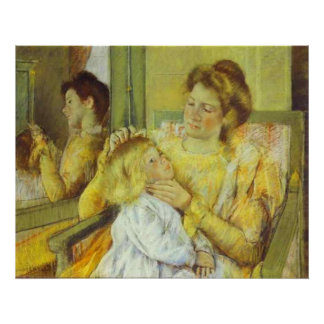 Mother Combing Her Child's Hair. 1901, Mary Cassat Print