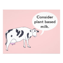 Mother Cow, Consider plant based milk, flyers