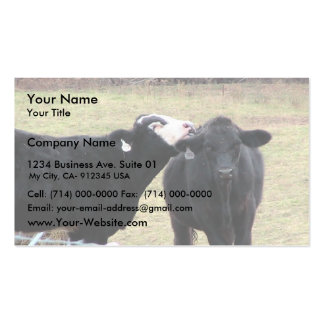 Mother Cows Licking Her Infant Double-Sided Standard Business Cards (Pack Of 100)