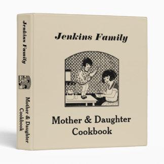 Mother & Daughter Cookbook Binder
