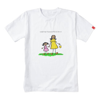 Mother & Daughter Custom Family Characters Shirt Zazzle HEART T-Shirt