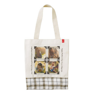 Mother Daughter Personalized Instagram Photo Grid Zazzle HEART Tote Bag