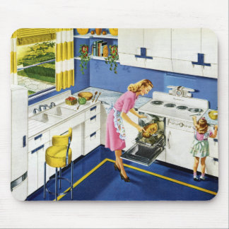 Mother/Daughter Retro Kitchen #2 Mouse Pad