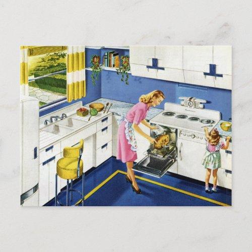 MotherDaughter Retro Kitchen 2 Postcard