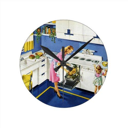 MotherDaughter Retro Kitchen 2 Round Clock