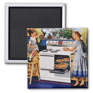 Mother/Daughter Retro Kitchen Magnet
