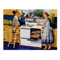 Mother/Daughter Retro Kitchen Postard Postcard