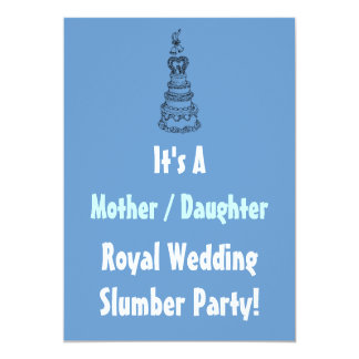 Mother Daughter Royal Wedding Slumber Party Invite