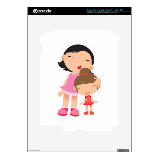 Mother & Daughter iPad 3 Decal