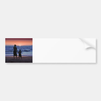 Mother Daughter Sunset Bumper Sticker