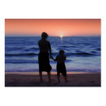 Mother Daughter Sunset Business Cards