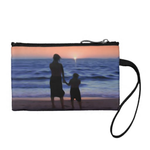 Mother Daughter Sunset Change Purses
