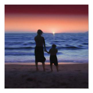 Mother Daughter Sunset Custom Invites