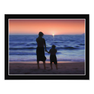 Mother Daughter Sunset Personalized Announcements