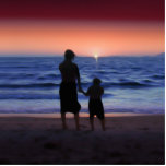 Mother Daughter Sunset Photo Cut Outs