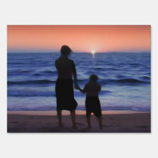 Mother Daughter Sunset Sign