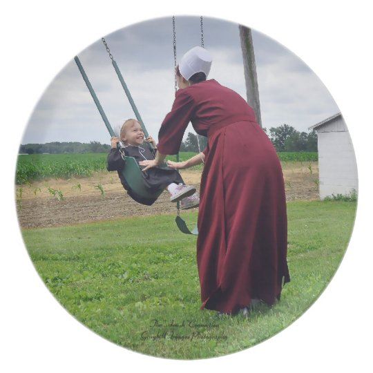 Mother Daughter Swing Time Plate