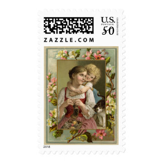 Mother & Daughter Vintage Reproduction Postage