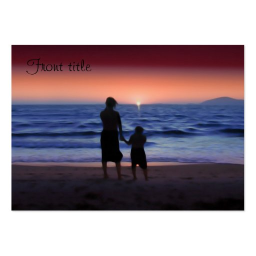 Mother & Daughter Walk on the Beach Large Business Cards (Pack Of 100)